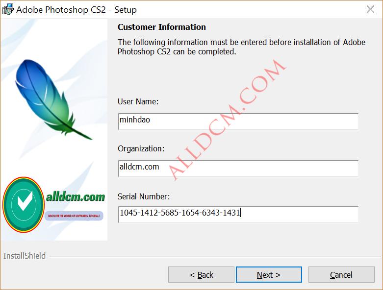 Lấy Key Bản Quyền Photoshop CS2 Từ Adobe | alldcm com